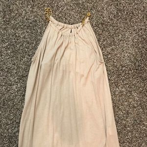 Gold Chain Accent Top